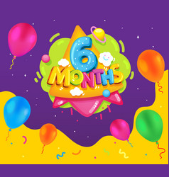 6 month vector image