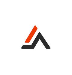 A letter alphabet business sport vector