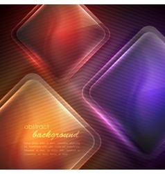 Abstract background with transparent glass squares vector