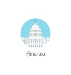 America landmark isolated round icon vector image