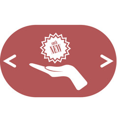 arm gift icon vector image