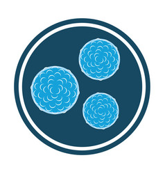 bacteria blue icon vector image
