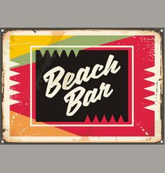 beach bar retro sign vector image