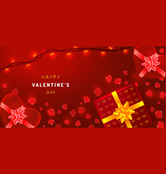 beautiful valentines day background with vector image