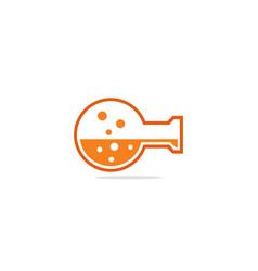 bottle lab science chemical logo vector image
