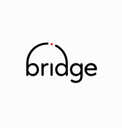 bridge-font-logo vector image