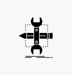 build design develop sketch tools glyph icon vector image