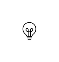 bulb lamp icon logo line outline monoline vector image
