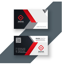 business card template in red color vector image
