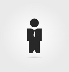 businessman or bodyguard icon with shadow vector image