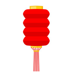 cartoon red chinese paper lantern vector image