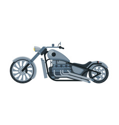 Chopper motorcycle motorbike vehicle side view vector