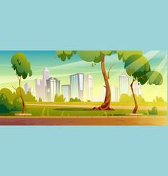 city park summer or spring landscape cityscape vector image