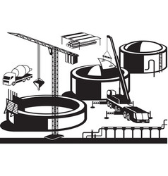 construction of oil base vector image