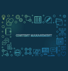 content management colored outline vector image