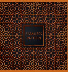 Copper seamless pattern on black background vector