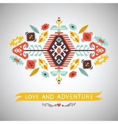 Decorative element on native style vector