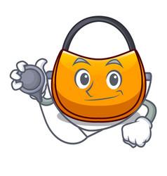 Doctor female hobo bag isolated on mascot vector