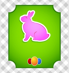 Easter card with colorful rabbit and eggs vector image