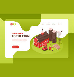 farm buildings website design vector image