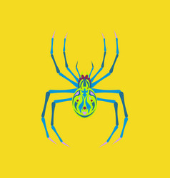 Flat on background of halloween spider vector
