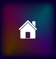 Flat paper cut style icon of house vector