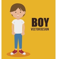 happy boy design vector image