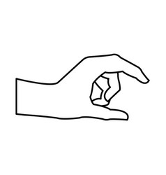 Human hand health care medical line vector