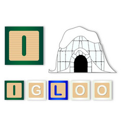 I is for igloo vector