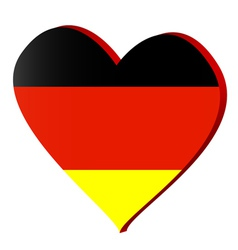 I love germany vector image