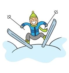 Jumping skier vector image