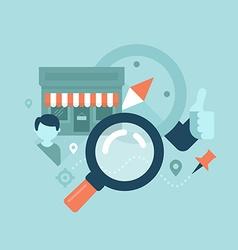 Local business seo concept vector