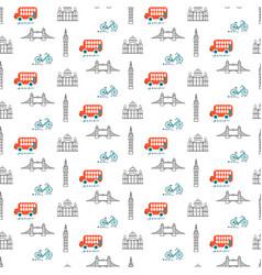 London city theme kid seamless pattern vector