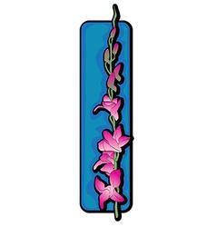 long orchid clip art blue vector image