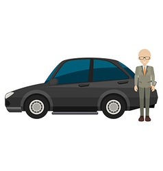 Man and car vector image