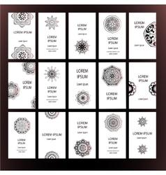 Mandalas business card 3 vector image