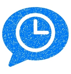 Message Time Grainy Texture Icon vector