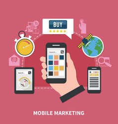 Mobile marketing composition vector