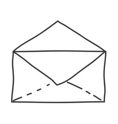 Monochrome contour of open envelope vector
