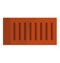 Orange brick icon isolated vector