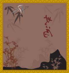 oriental scene vector image
