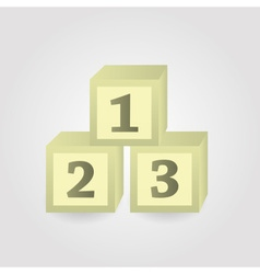 Paper or wooden bricks with numbers eps10 vector