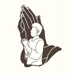 pray prayer praise to lord vector image