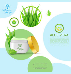 realistic organic natural cosmetic template vector image