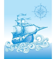 Sailboat vector image