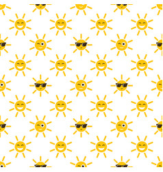 Seamless pattern with sun icons vector