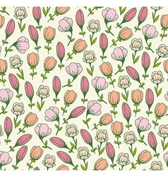 Seamless spring floral pattern Flowers texture vector image