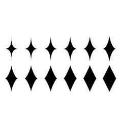 Set bling sign shine clean shine symbol vector