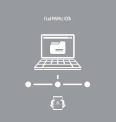 shared folder - flat minimal icon vector image