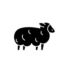 sheep black icon sign on isolated vector image